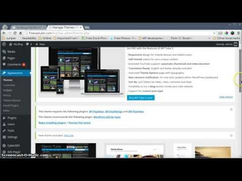 How to install the free WP Tube 4 theme in 3 minutes