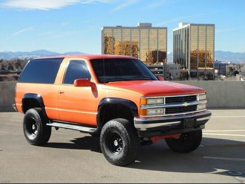Rare 1998 Chevrolet 2 Door Tahoe 4x4 Lifted Z71 Custom