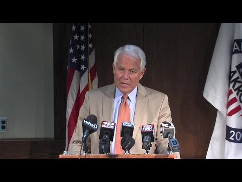 Akron Mayor Don Plusquellic delivers final press conference