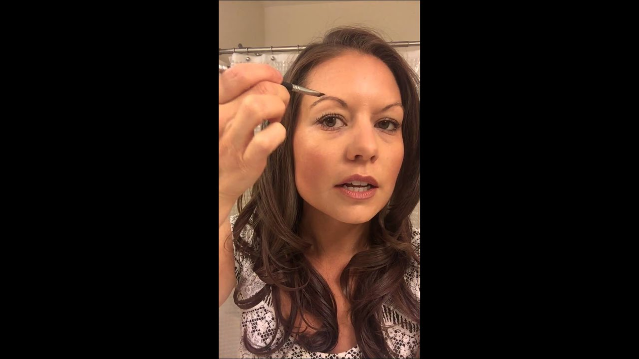 Brow Tutorial Using Mineral Powder Youtube