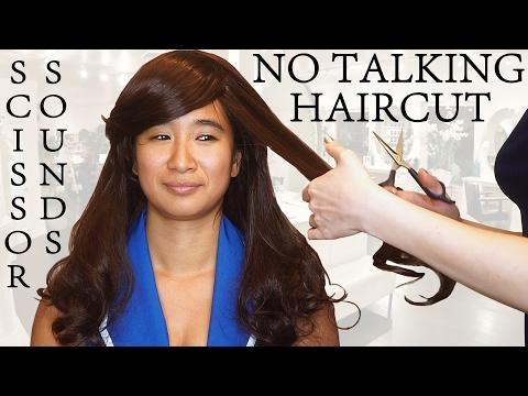 ASMR Haircut No Talking Sounds for Sleep - Binaural Scissor Sounds