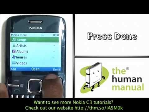 Music playlist | Nokia C3 | The Human Manual