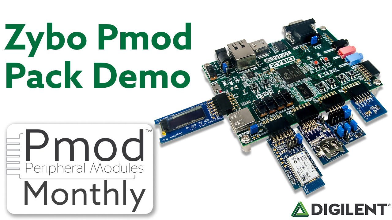 Pmod Monthly - August 2016 - Zybo Pack Demo