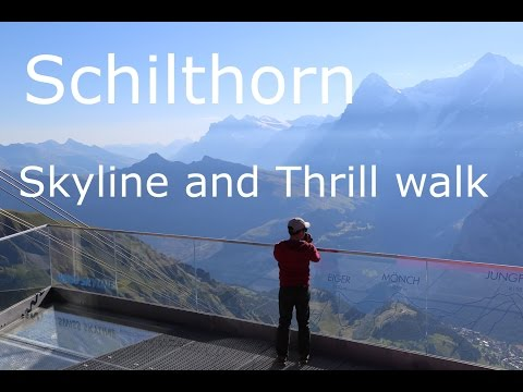 Skyline walk and Thrill walk at Birg, Schilthorn