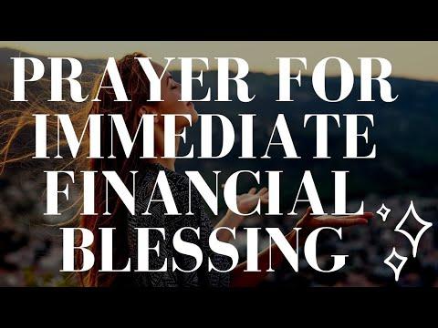 Powerful Prayer for Immediate Financial Blessing