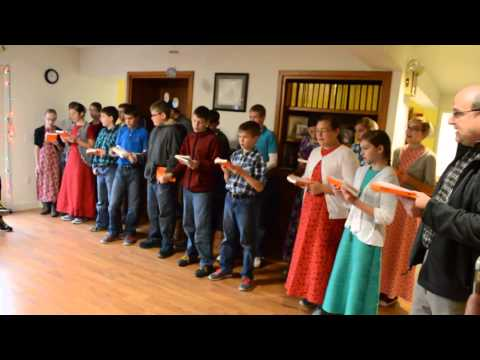 2015-12-17 Christmas Carolers to Meaningful Day Academy from New Haven Mennonite School