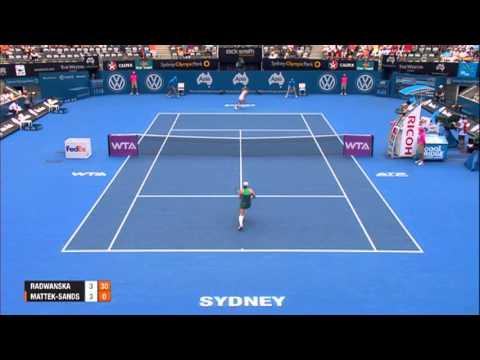 Agnieszka RADWANSKA (POL) vs Bethanie MATTEK SANDS (USA), Apia International Sydney 2014 Highlights