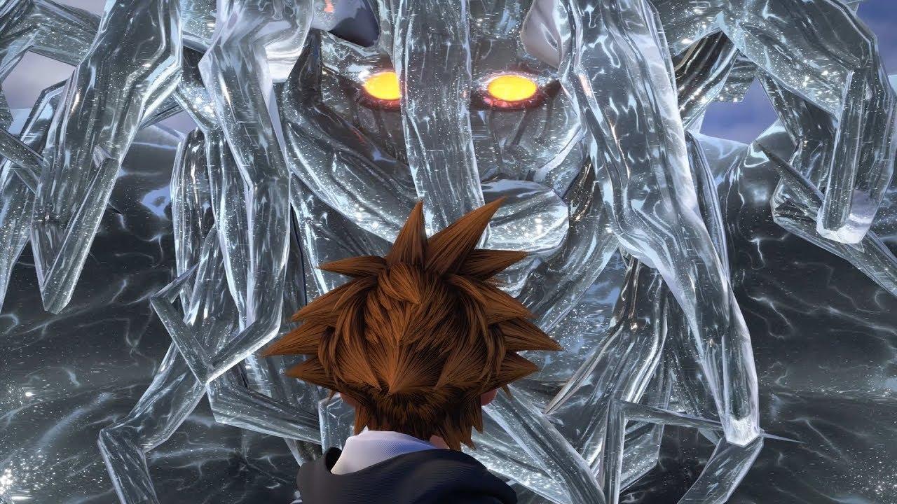 Kingdom Hearts 3: Darkside Giant Heartless Boss Fight #1 (English ...