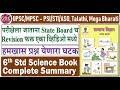 6th Standard Science Summary   Very Important for UPSC/MPSC - PSI/STI/ASO, Talathi, Mega Bharti