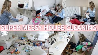 ALL DAY EXTREME CLEAN WITH ME 2019 - FALL CLEANING MOTIVATION | Lauren Midgley