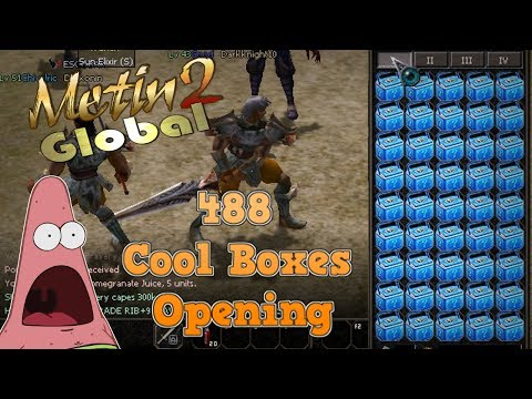 Metin2 Global | 488 Cool Boxes / Kühltruhen Opening! | Metin2 Global UK mit Vossi