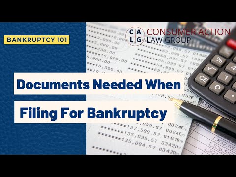 What documents for filing bankruptcy? Our attorney explains bankruptcy