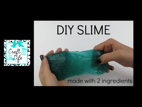 Craft Life ~ DIY Easy Slime Tutorial ~ Made with 2 Ingredients ~ No Borax