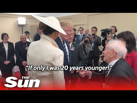93-year-old D-Day vet flirts with Melania Trump