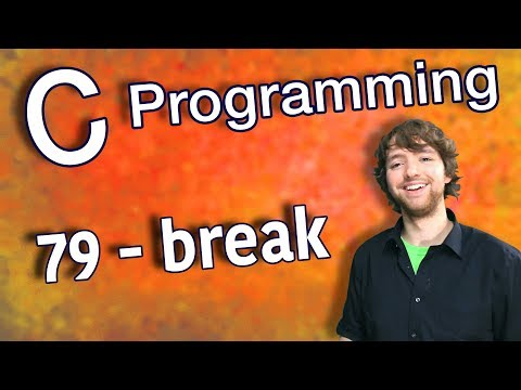 C Programming Tutorial 79 - break thumbnail