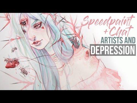 Speedpaint // Let's Chat Artists + Depression