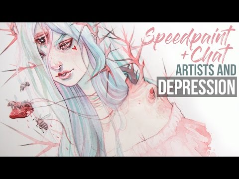 Speedpaint // Let's Chat Artists + Depression