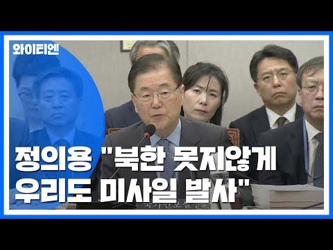 """국회, 청와대 국감...정의용 """"北 못지않게 우리도 미사일 발사"""" / YTN"""