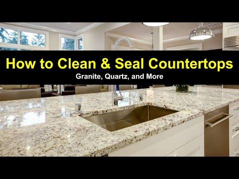 How to Clean & Seal Granite Countertops