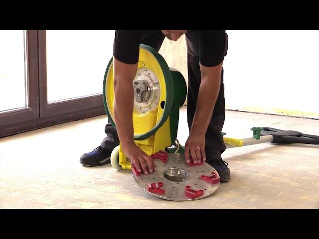 Unterbodenbearbeitung mit dem DIAMANT-Schleifteller von Lägler