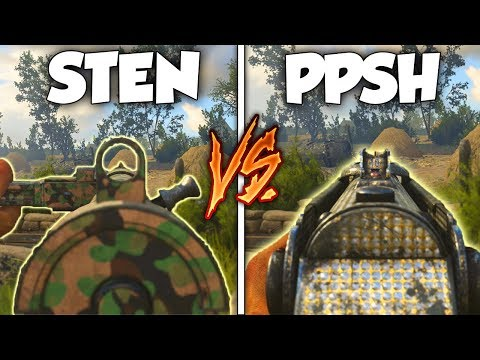 THE NEW STEN VS PPSH! WHICH OVERPOWERED SMG is BETTER in COD WW2! (COD WW2 DLC WEAPONS)