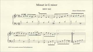 Bach, Minuet in G minor, BWV 842, Organ