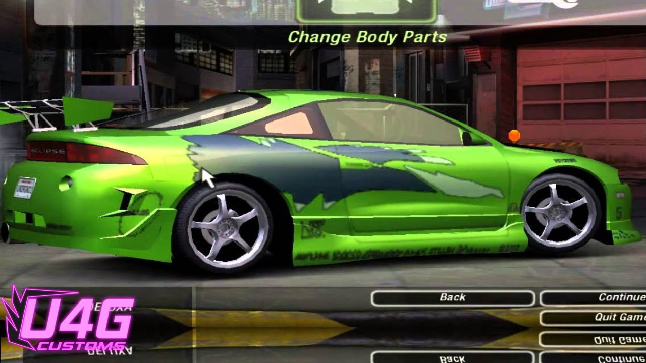 need for speed underground 2 fast and furious mitsubishi eclipse by rastakitten youtube. Black Bedroom Furniture Sets. Home Design Ideas