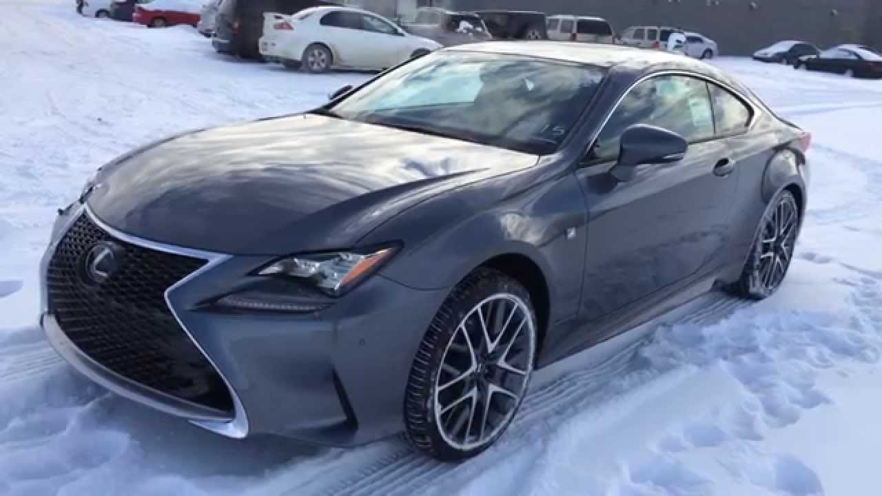 Superb New Grey On Rioja Red 2015 Lexus RC 350 2dr Cpe AWD F Sport Series 2  Review| Lexus Of Edmonton New   YouTube