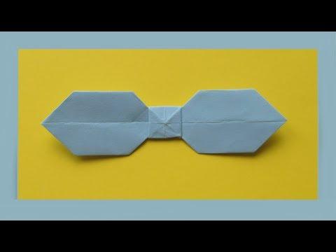 Как сделать ГАЛСТУК-БАБОЧКУ из Бумаги. Оригами Своими Руками