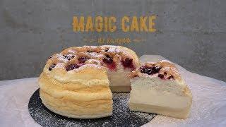 Ванильный Magic Cake с ягодами (162 ккал) / Быстрый пп-рецепт