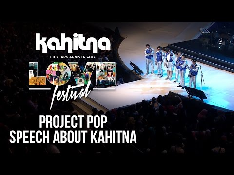 Project Pop - Speech About Kahitna | (Kahitna Love Festival)