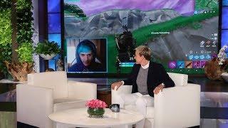 Ellen Makes Surprise Cameo During Ninja's 'Fortnite' Livestream thumbnail