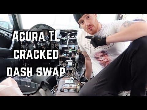 3rd Gen Acura TL Cracked Dash Swap