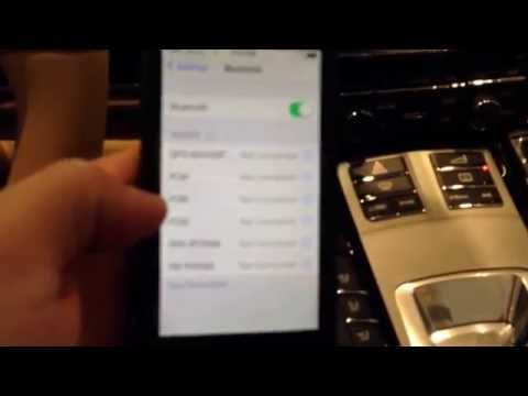 How to sync your iPhone to the Bluetooth in a Porsche Panamera