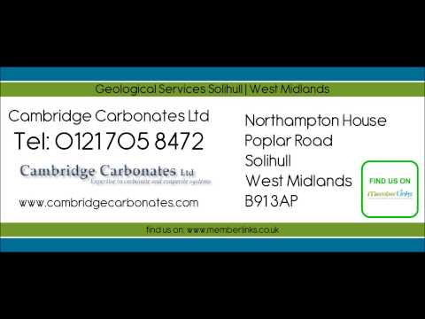 Geological Services Solihull | West Midlands - Cambridge Carbonates Ltd