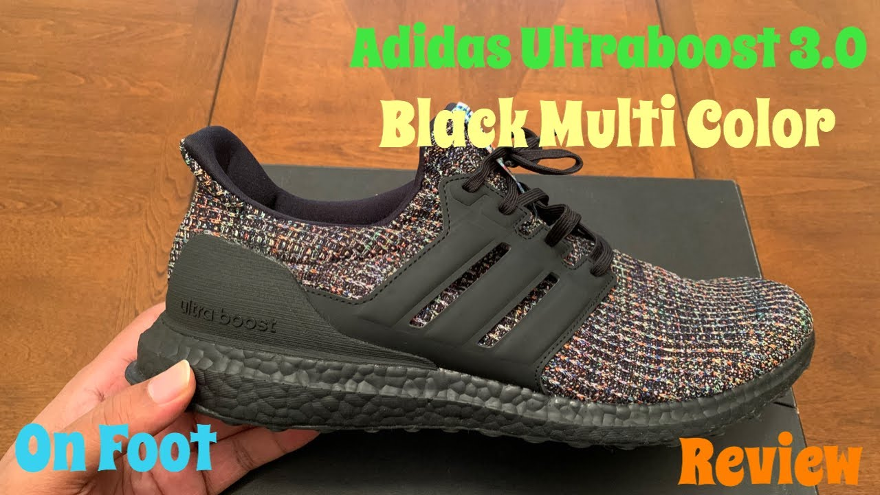 Adidas Ultraboost 3.0 Black Multi Color