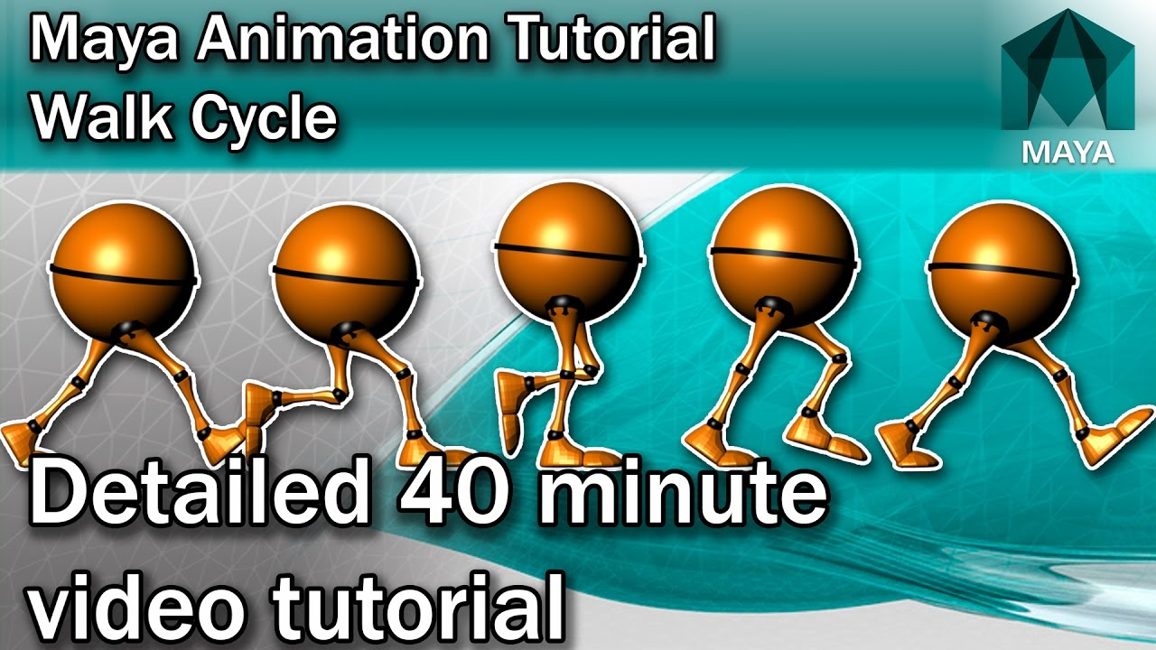 Maya Walk Cycle Tutorial - Complete | Character Animation Tutorial