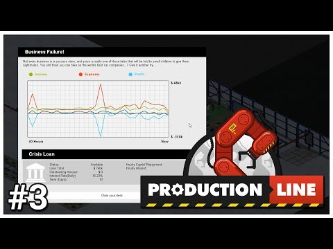 Production Line - #3 - Cash Flow Problems - Let's Play / Gameplay / Construction