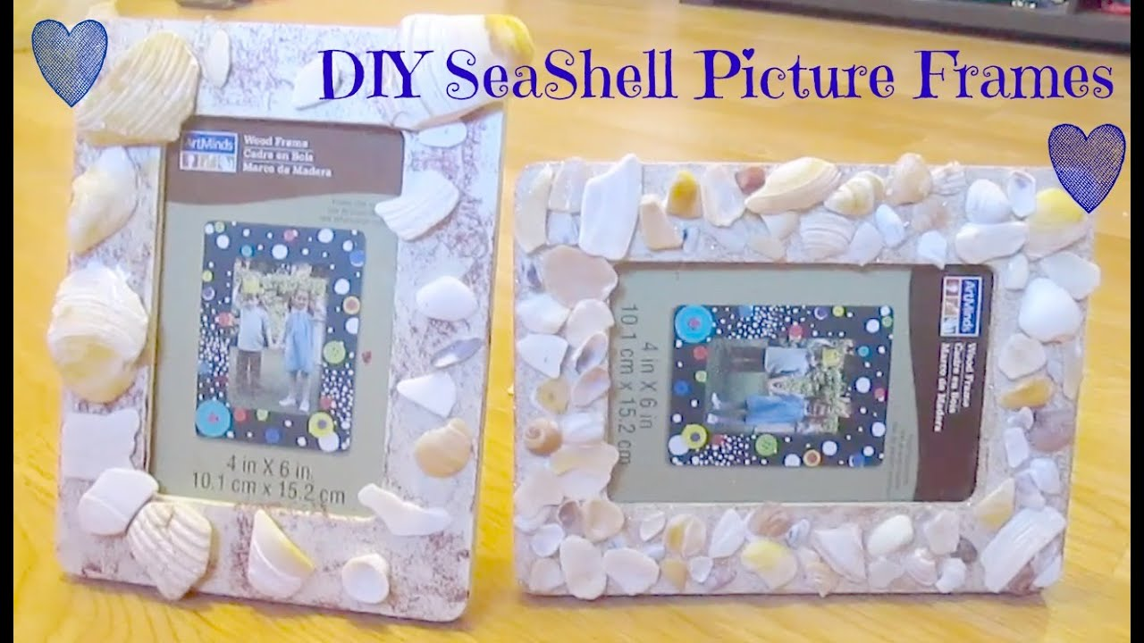 Diy seashell picture frame youtube diy seashell picture frame jeuxipadfo Image collections