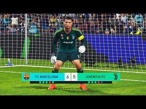goalkeeper L.MESSI vs goalkeeper C.RONALDO | Penalty Shootout | Barcelona vs Juventus | PES 2018