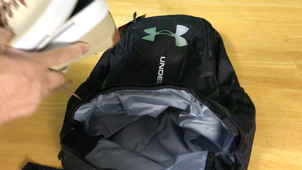 Under Armour UA Hustle 3.0 Backpack - YouTube 2ac036a6a6936