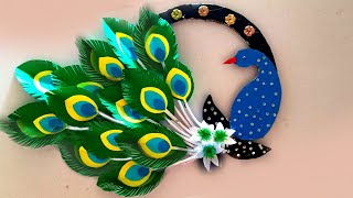 How To Make Wall Hanging Peacock / Make Wall Decoration Paper Peacock