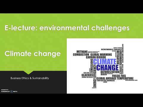 BE&S2018 class 2B topic environmental challenges / climate change
