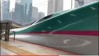 JR東京駅 東北新幹線こまち+はやぶさ発車シーン