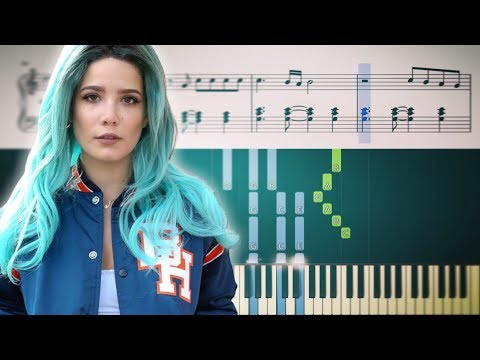 WITHOUT ME (Halsey) - Piano Tutorial + SHEETS