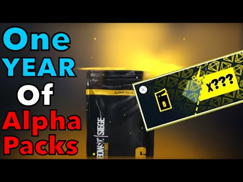 I Saved My ALPHA PACKS For ONE YEAR // HUGE ALPHA PACK OPENING // RAINBOW SIX SIEGE