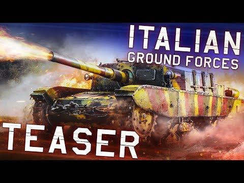 ITALIAN GROUND FORCES. TEASER / WAR THUNDER