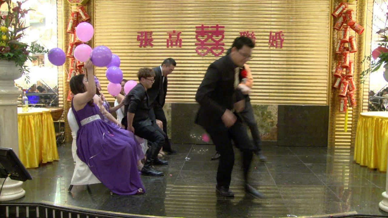 Youtube Wedding Photography Tips: A Funny Balloon Game @ A Chinese Wedding Reception Toronto