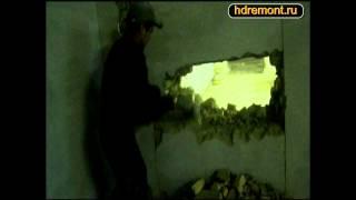 видео Делаем двери в несущей стене своими руками. Тонкости работы с несущей стеной