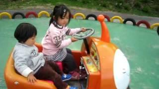 Kids go cart ドキンちゃん号に乗る